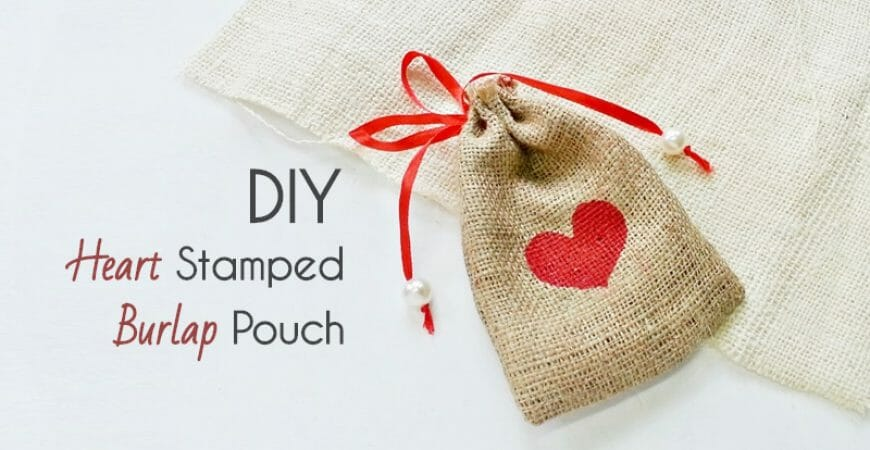 DIY Burlap Gift Pouch