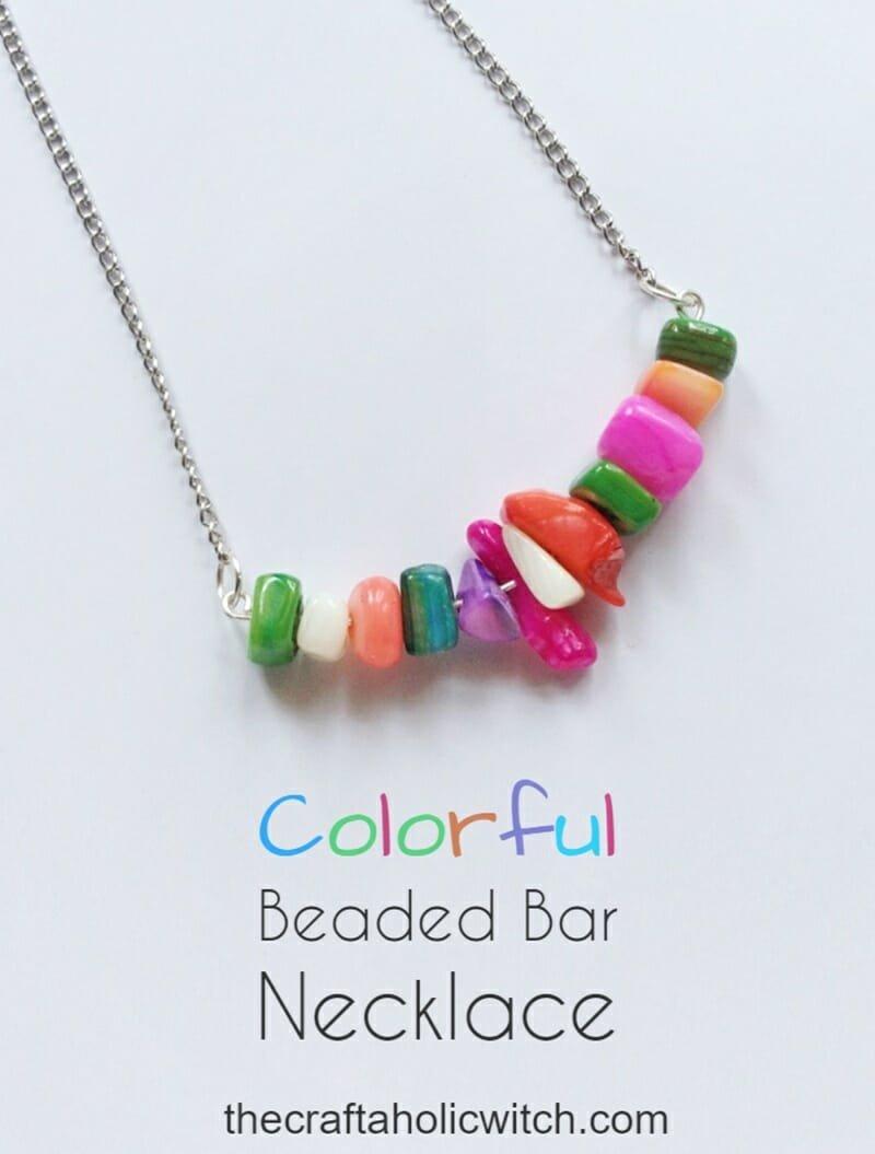 DIY Colorful Gemstone Bead Necklace