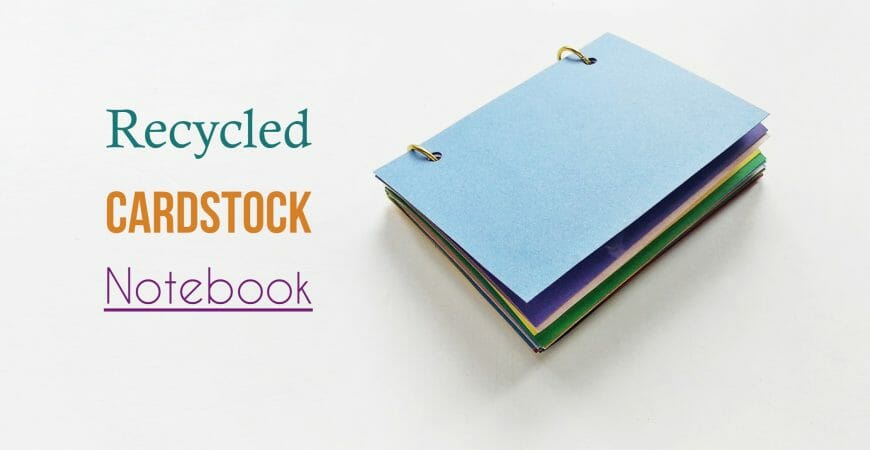 DIY Recycled Cardstock Notebook