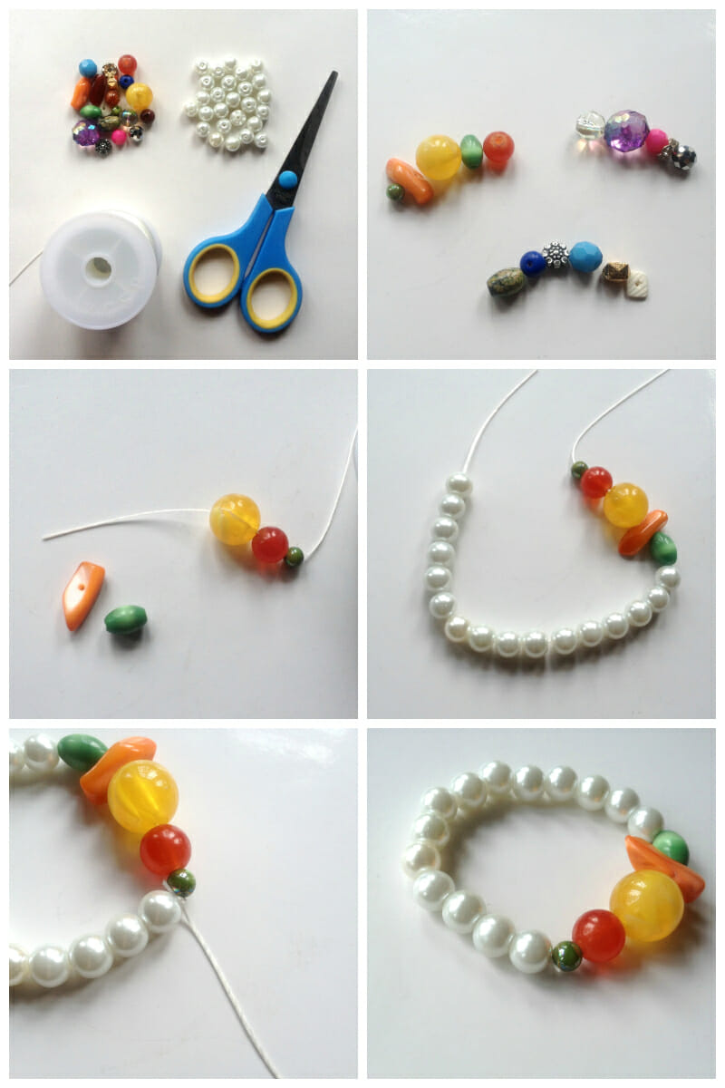 Create Mixed Beaded Bracelet