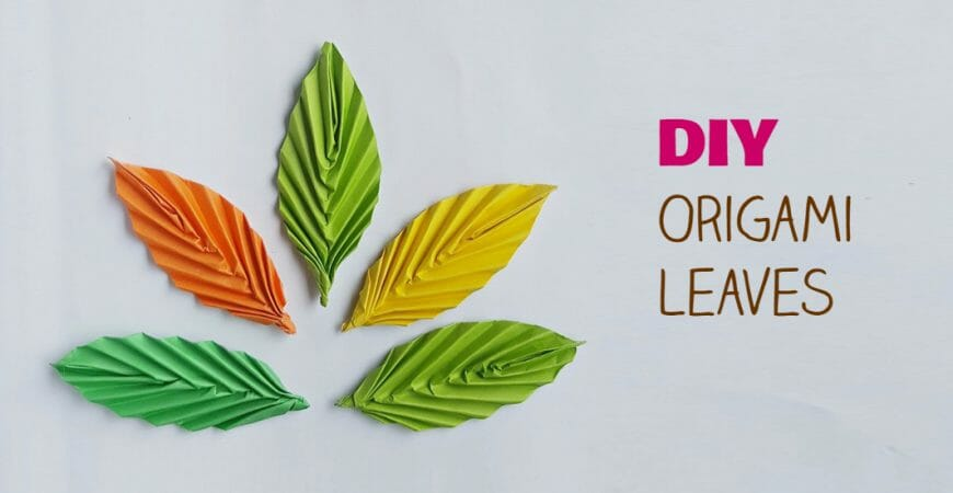 Create Paper Origami Leaves