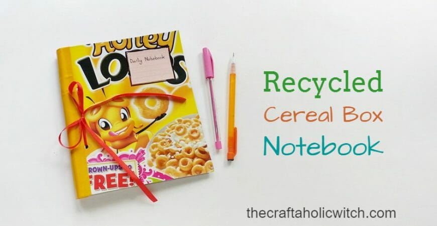 DIY Recycled Cereal Box Notebook