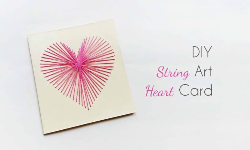 Create String-Art Heart Card