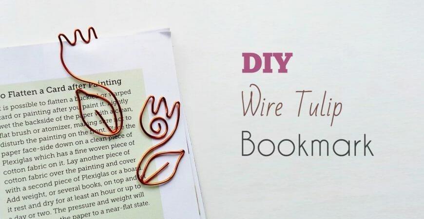 Create Cute Wire Tulip Bookmark