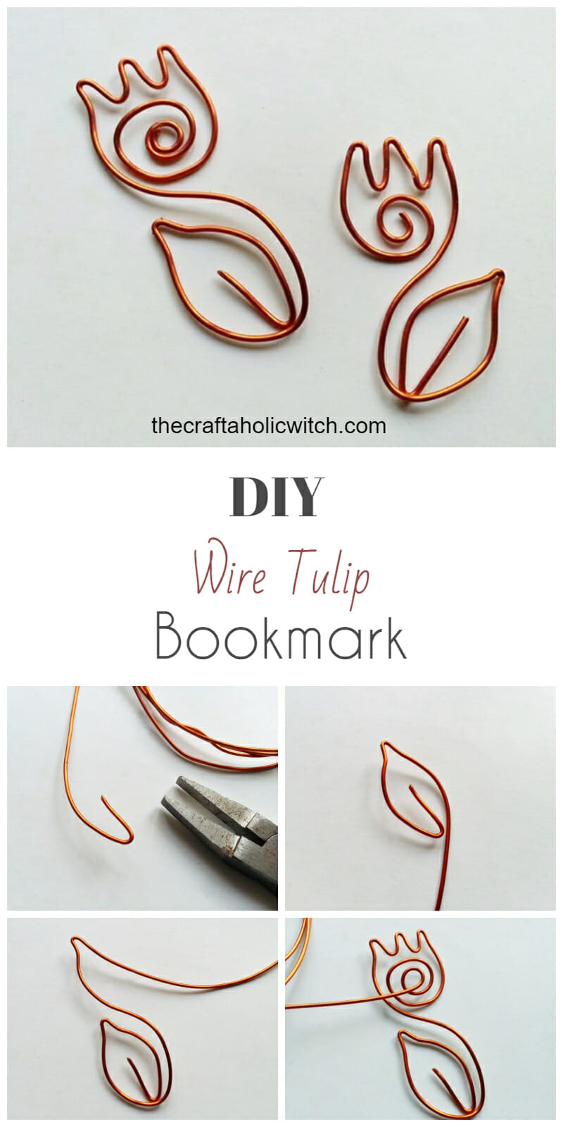 Create Cute Wire Tulip Bookmark