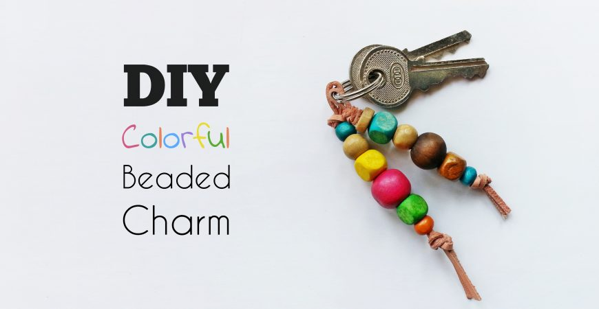 DIY Wooden Beaded Charm