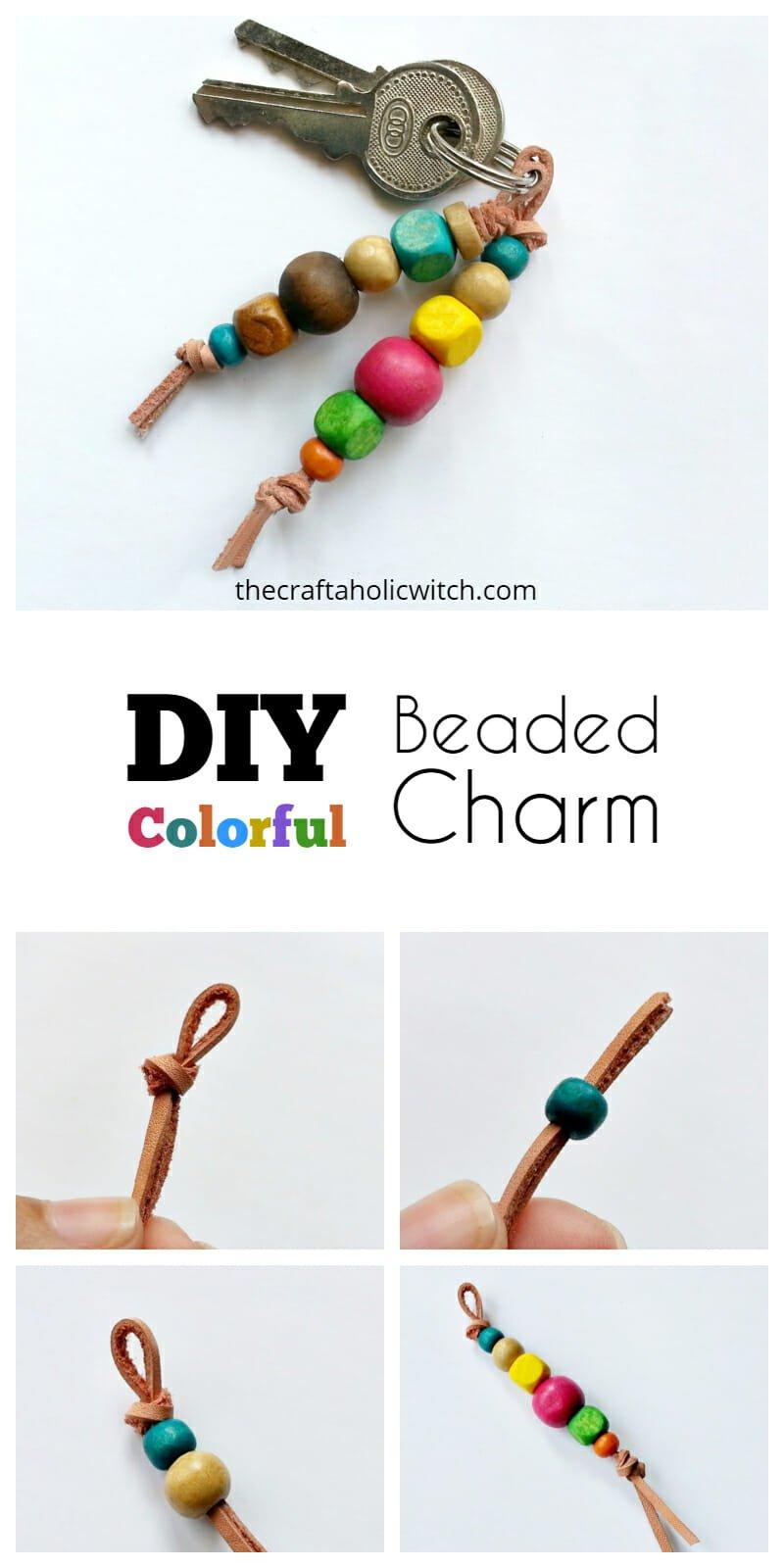 DIY Wooden Beaded Charm