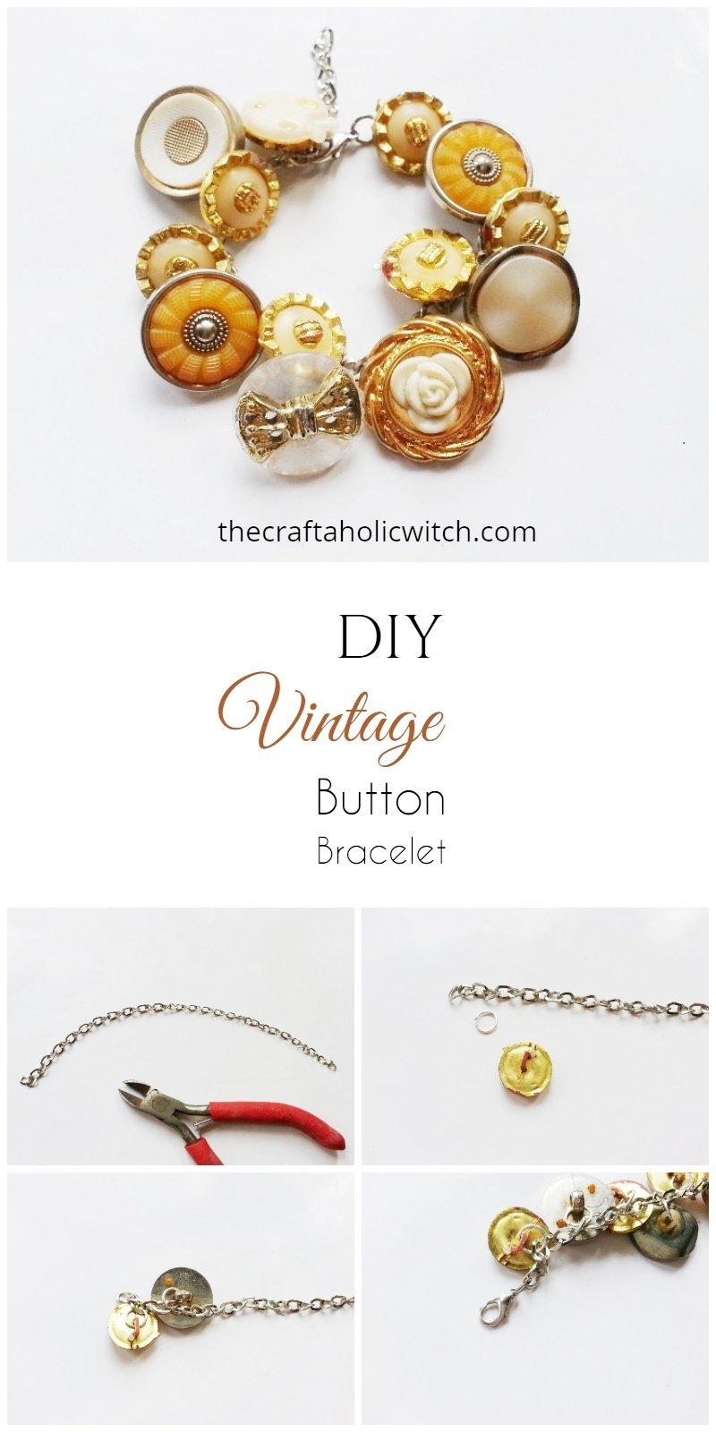 DIY Vintage Button Bracelet