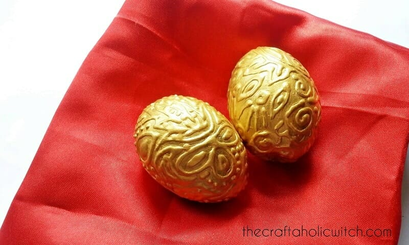Create Gold Embossed Eggs
