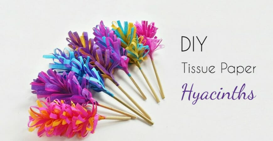 DIY Tissue Paper Hyacinth