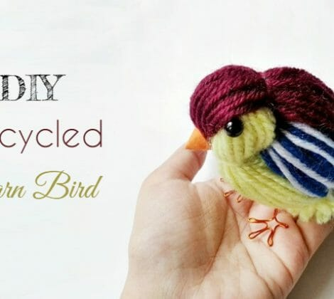 DIY Recycled Yarn Bird