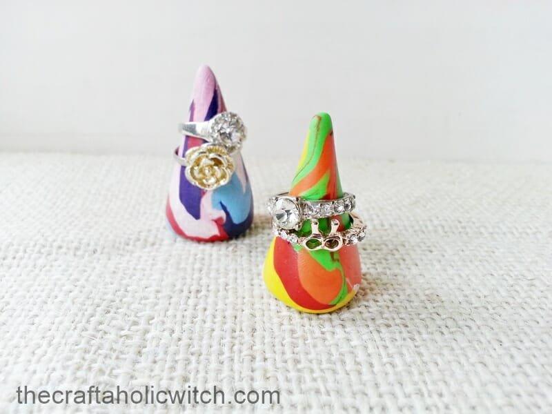 DIY Cone Ring Displays
