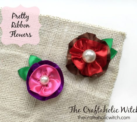 Create Pretty Ribbon Flowers