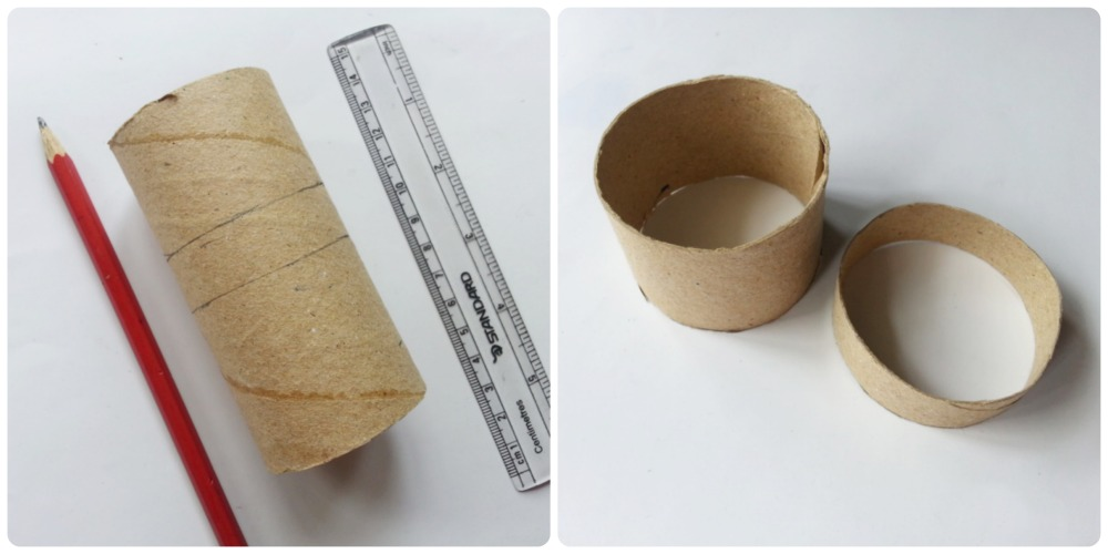 How to make tissue paper roll box step 1