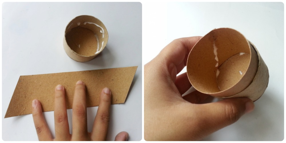 How to make tissue paper roll box step 3