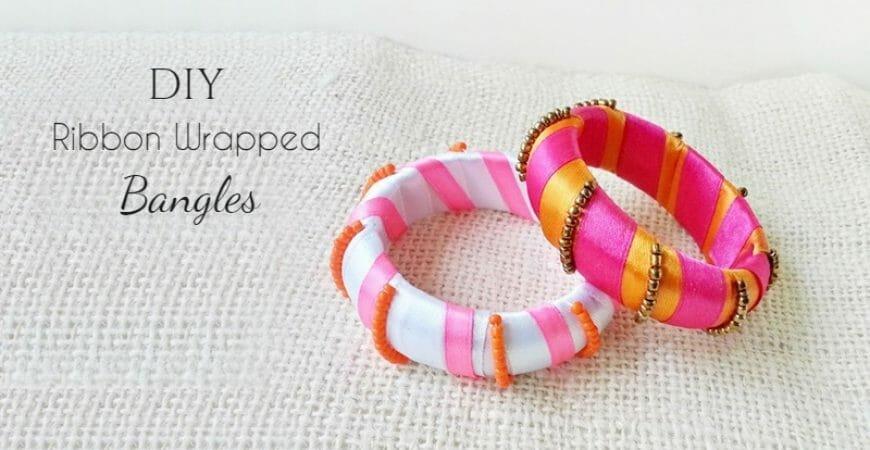 DIY Ribbon Wrapped Bangles