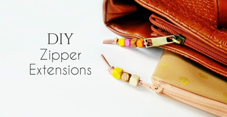DIY Leather Zipper Extensions
