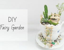DIY Fairy Garden in a Cup