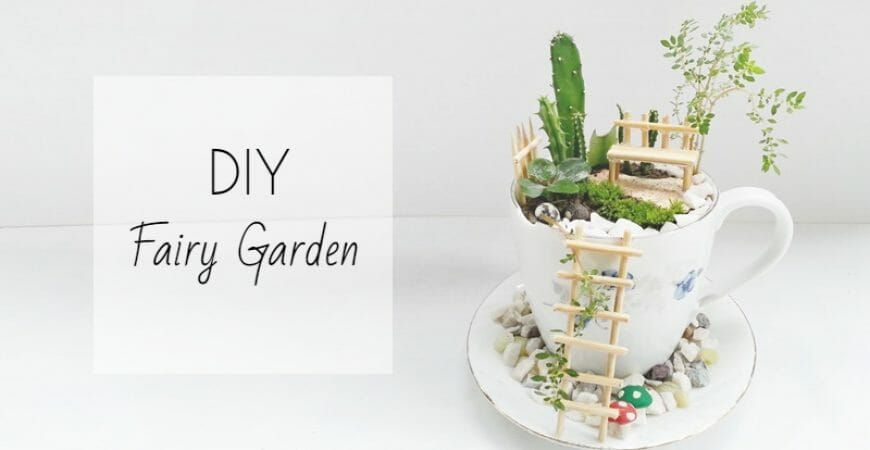 DIY Fairy Garden in a Cup