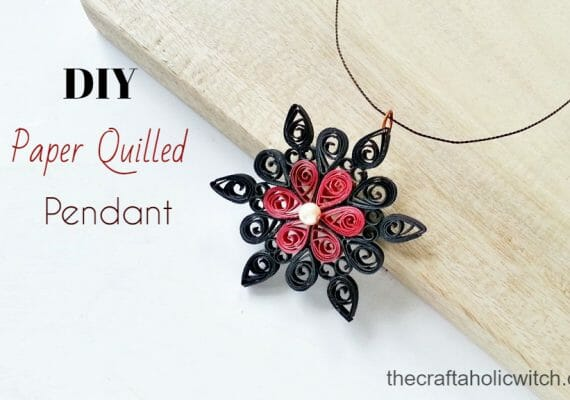Create Pretty Paper Quilled Pendant