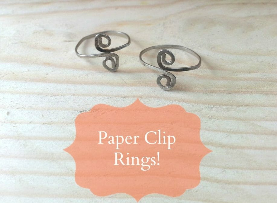 Create Rings from Paper Clips!
