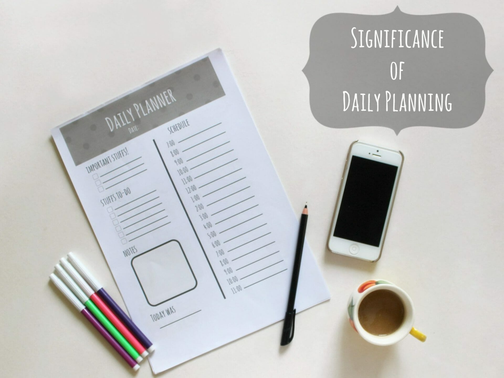 Significance of Daily Planning