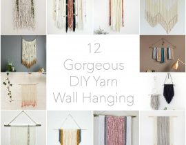12 Beautiful DIY Modern Yarn Hanging