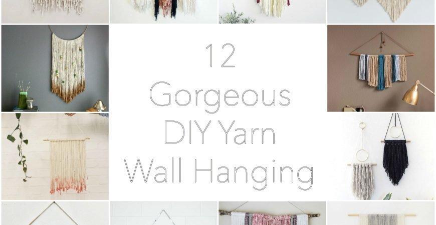 12 Beautiful DIY Modern Yarn Hanging