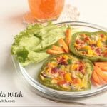 Vegetable Omelette in Peppers Ring
