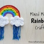 Mixed Media Rainbow Kids Craft