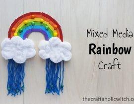 Mixed Media Rainbow Kids Craft