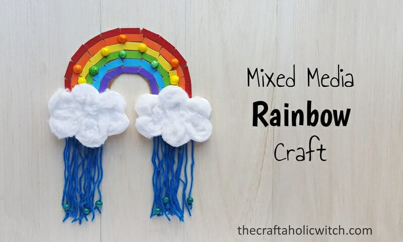 Mixed Media Rainbow Kids Craft The Craftaholic Witch