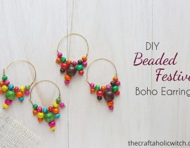 DIY Festive Boho Style Earrings