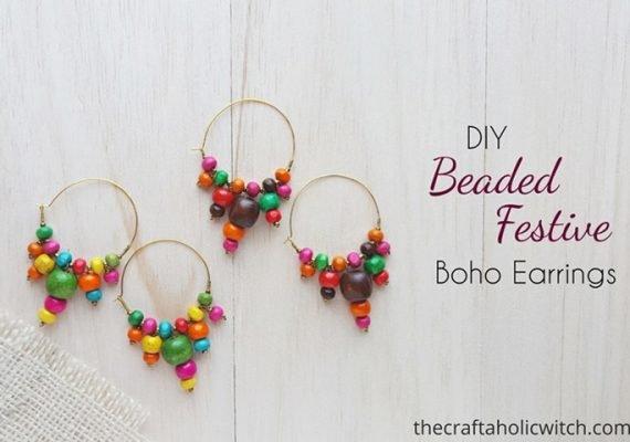 DIY Festive Boho Style Earrings