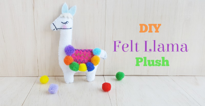 DIY Felt Llama Plush – Free Pattern