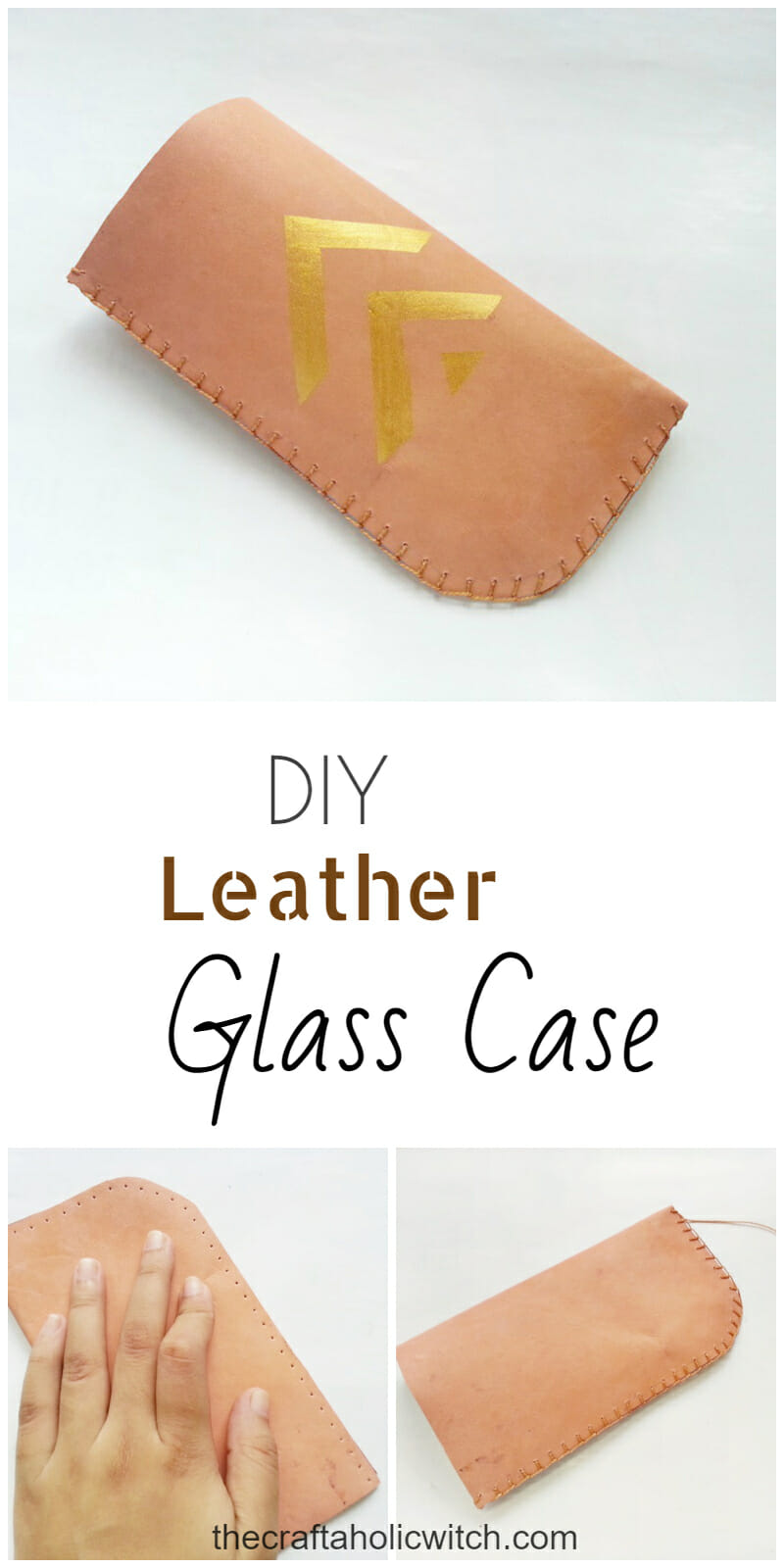 DIY Leather Glass Case