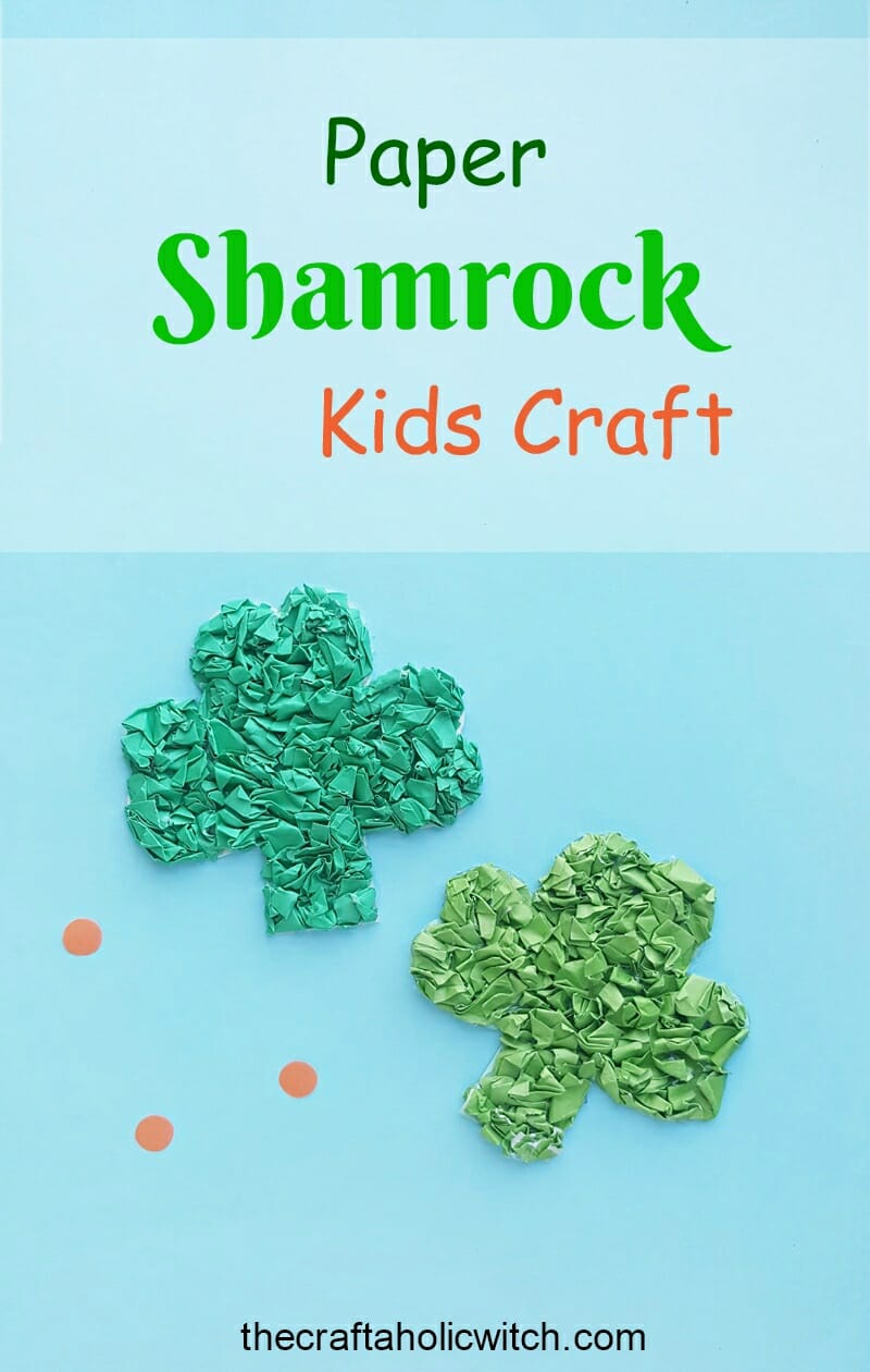 Paper Shamrock kids craft