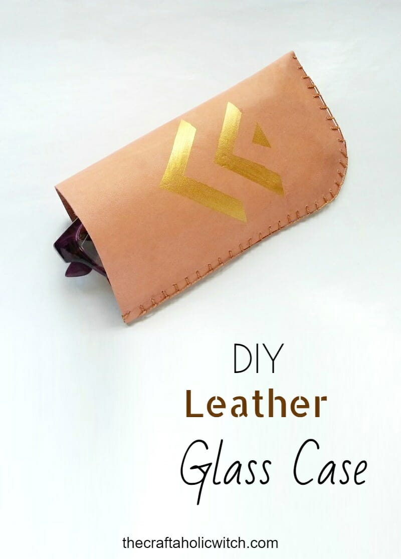 DIY Leather glass holder