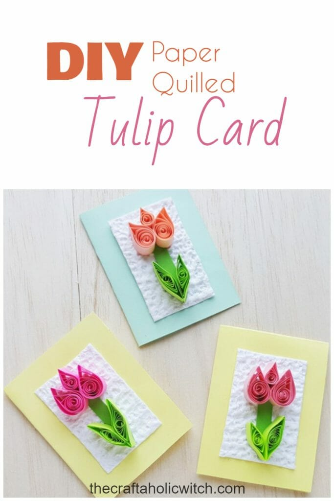 Quilled tulip paper craft
