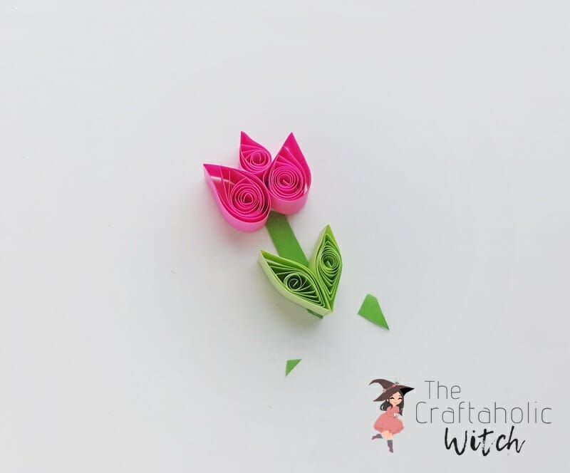 DIY Quilled Tulip Card - Paper Quilling Project