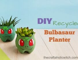 DIY Recycled Bulbasaur Planter