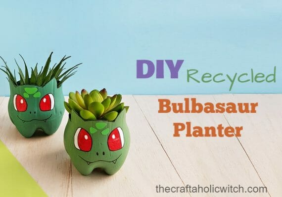 DIY Recycled Bulbasaur Planter