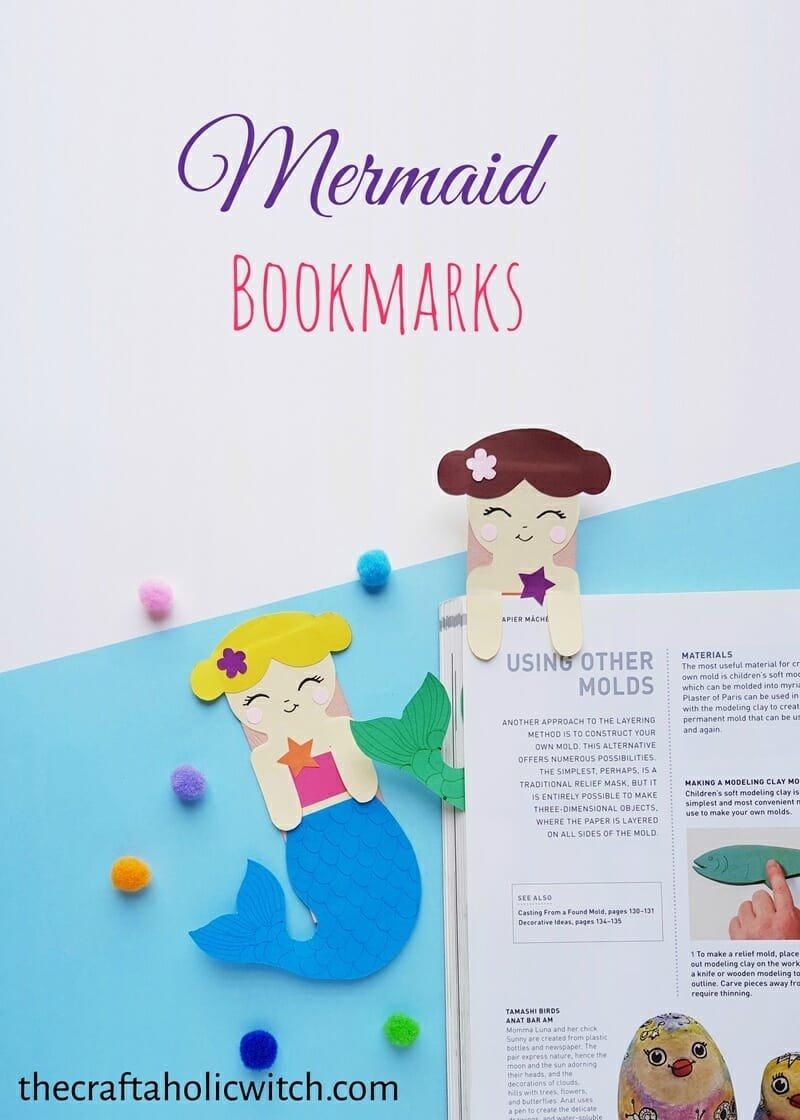 DIY Mermaid Hug Bookmarks