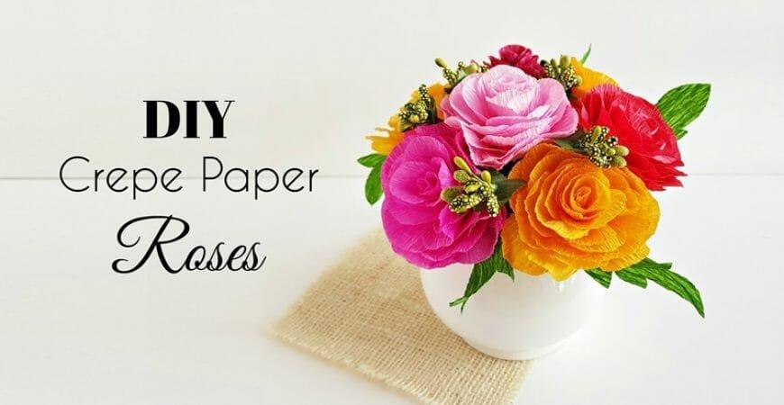 Crepe Paper Roses: DIY Crepe Paper Flower