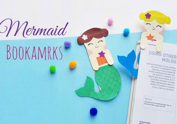 DIY Mermaid Hug Bookmarks