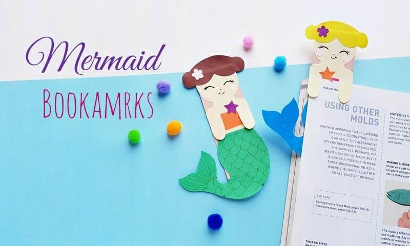 mermaid bookmark diy