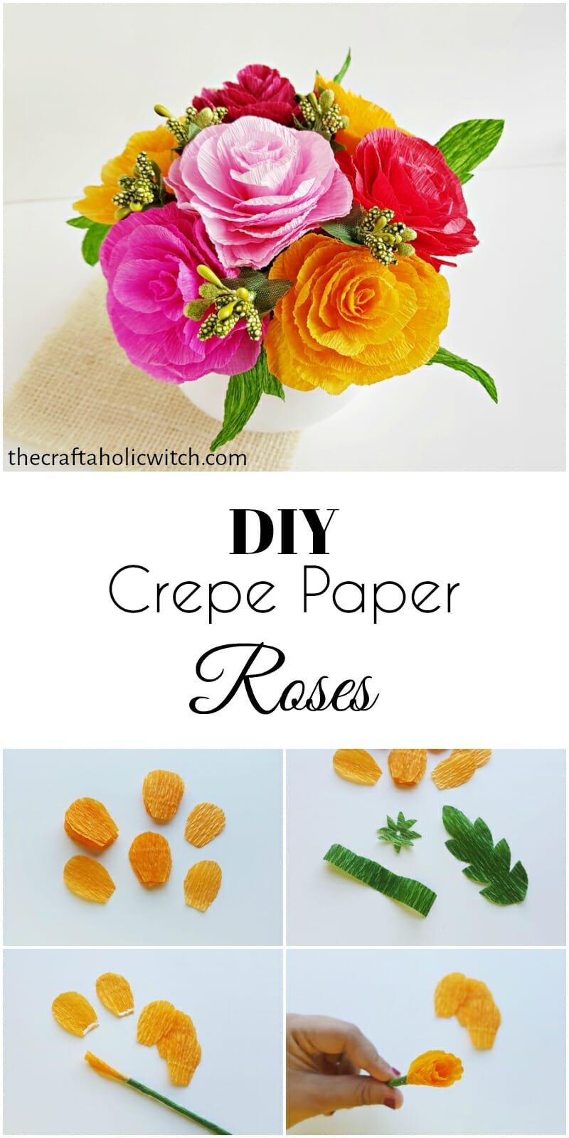 crepe paper rose pin image