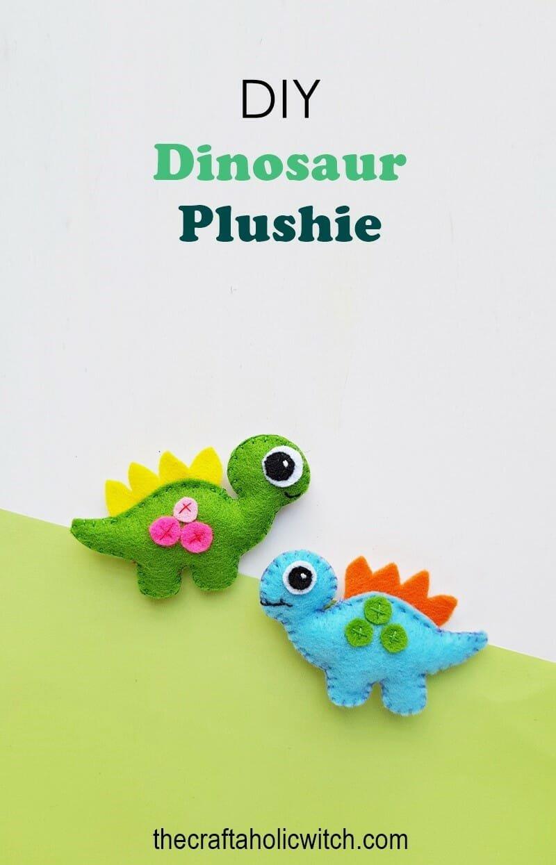 free dinosaur plushie pattern