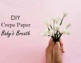 DIY Crepe Paper Baby's Breath