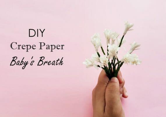 DIY Crepe Paper Baby's Breath